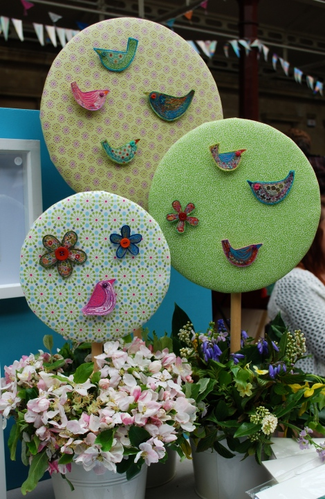 Liberty print broaches and cards..... my favourite! www.teddylonglegs.com