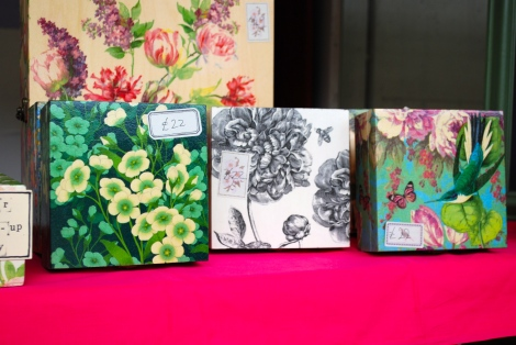 My photo does not do credit to the beautiful wooden boxes made by www.rosecottageboxes.com