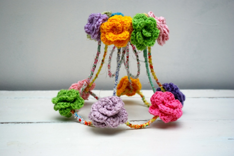 Crochet Flower Lampshade